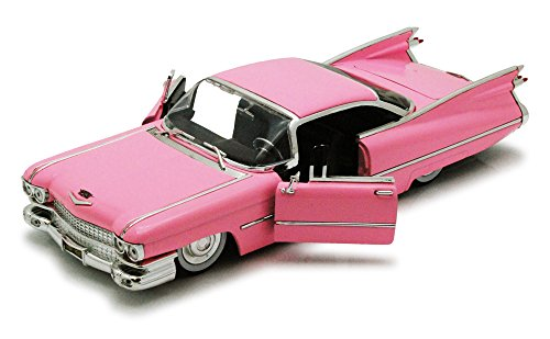 1959 Cadillac Coupe De Ville, Pink - Jada Toys Bigtime Kustoms 96801 - 1/24 scale Diecast Model Toy Car Coupe Diecast Model Car