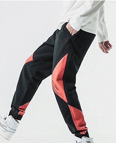 Homme Pantalon De Sport Jogging Sarouel Fitness Loose Hip Hop Broderie  Pants Baggy Pantalon Longue Rouge Brique M  Amazon.fr  Vêtements et  accessoires d322752c32d