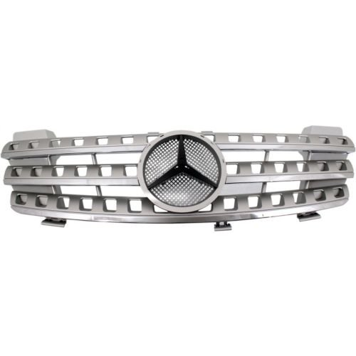 Make Auto Parts Manufacturing - GRILLE; SILVER; WITHOUT AMG AND SPORT PACKAGE - MB1200153 Amg Sport Package