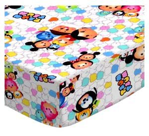 SheetWorld Fitted Pack N Play Sheet Fits Graco 27 x 39 - Tsum Tsum - Made in USA by SHEETWORLD.COM