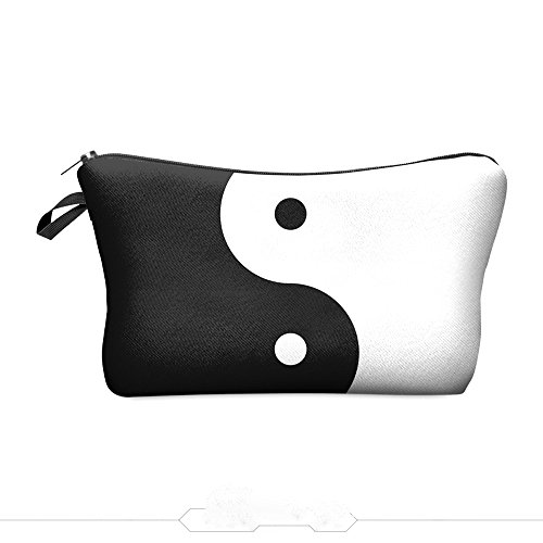 Daisy Bay Cosmetic Pouch Clutch Makeup Bag Black White (Ying ()