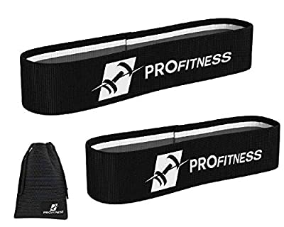 ProFitness Hip Resistance Bands [Set of 2] | Non-Slip, Durable Resistance Loop Bands for Full Body Workouts, Strength &Stamina | Perfect for Legs, Hips, Glutes, Arms, Stretching, Rehab & More