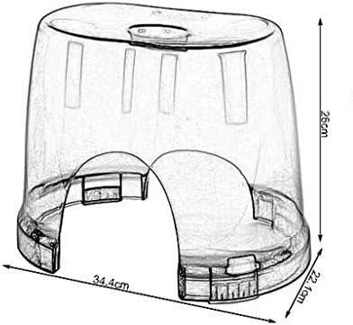 GUO Haushalt Rutschfester Duschhocker Kunststoff-Duschsitz Hocker Fußwaschung Hocker Mode Sicherheits-Rutsch Kind Badhocker Multifunktions-Transparent Kreative multifunktionale Duschhocker