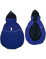 manduca av MaM Tragecover Flex för babydräkt (vinterskydd deluxe marinblå/svart), blå/svart