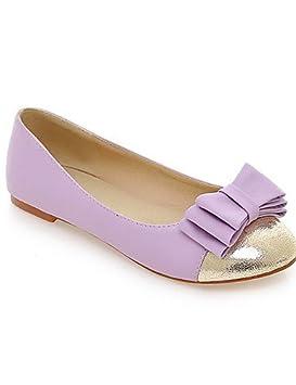Zapatos Mujer - Mocasines - Oficina y Trabajo/vestir/Casual - Punta redondeada - Plato - Sintético - Rosa/Morado/Beige, under 1in-pink: Amazon.es: Deportes ...