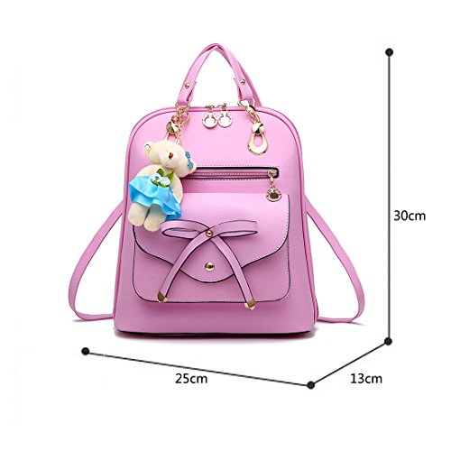 25 School 30 Thick High Women For Child X Shopping Backpack Backpack Backpack length Girl Travel Leather 13 X Pink Women Cm Work Backpack Girl Wewod Pu xwqUgaSI