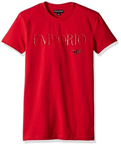 Emporio Armani Men's Megalogo T-Shirt Slim Fit, red Tango, S