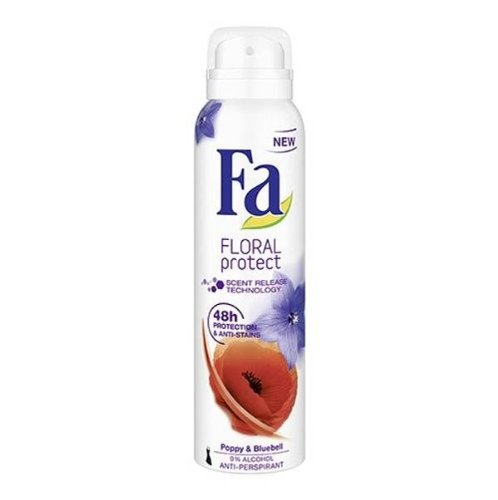 - Fa Floral Protect Poppy & Bluebell Antiperspirant Spray Deodorant - 150 Ml