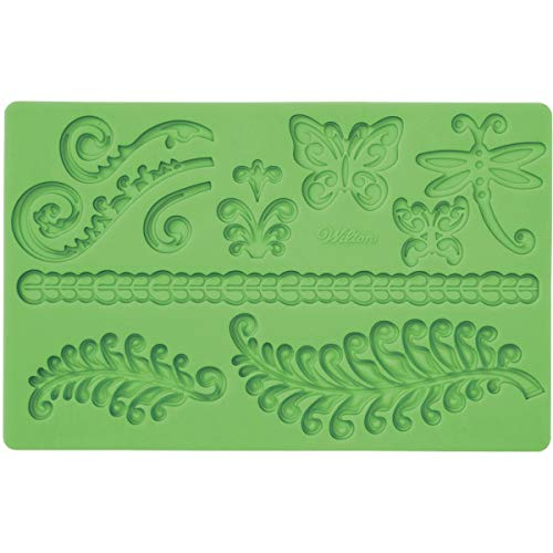 - Wilton Fondant and Gum Paste Silicone Mold, Ferns