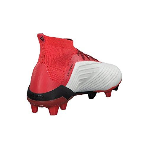 adidas Predator 18.1 FG, Scarpe da Calcio Uomo Bianco (Weiãÿ/Rot/Schwarz Weiãÿ/Rot/Schwarz)