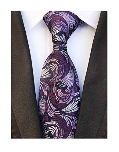 Men Fashion Designer Inspired Silk Tie Purple Spray Necktie Pretty Birthday Gift