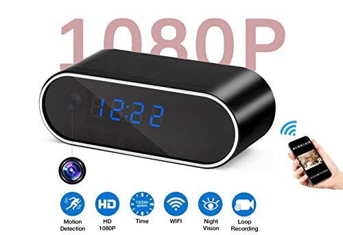 Spy Camera Wireless Hidden Cameras Clock Opticam360 HD 1080P Covert WiFi Nanny Cam Secret Home Security Cams IP Surveillance Camera View via Android iPhone APP