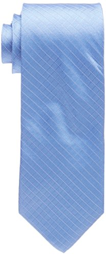 Calvin Klein Men's Etched Windowpane A Tie, Slate, ()