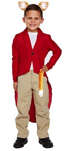 Fantastic Mr Fox Fancy Dress Costume (Childrens Mr Fox Red Jacket Ears & Tail for Boys & Girls Fantastic Fancy Dress)