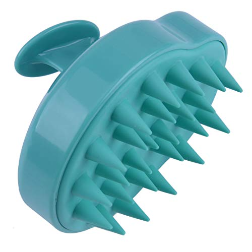 Silicone Shampoo Scalp Shower Washing Head Hair Massage Massager Brush Comb New (Color - Light green) ()