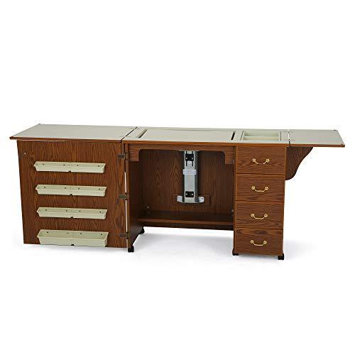 Norma Jean Wooden Sewing Table Desk Finish: Oak ()