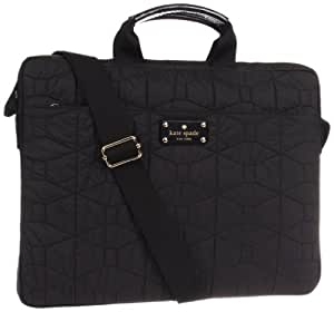 Kate Spade New York Signature Spade Quilted-Chad   Laptop Bag,Black,One Size