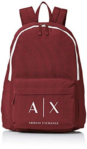 Armani Exchange Men's Logo Backpack, Rhubarb