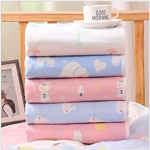 110 * 110 cm 6 couches multi-usage gaze nouveau-né couverture infantile serviette de bain bébé dormir dormir couverture couvertures nouveau-né literie couverture