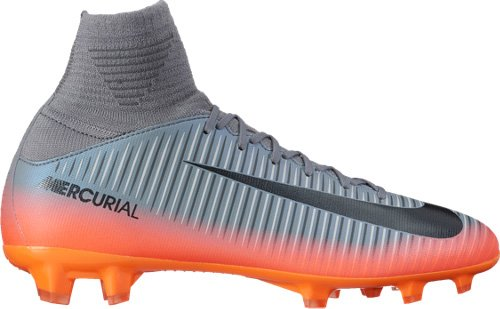 NIKE Junior Mercurial Superfly V CR7 Football Boots 852483 Soccer Cleats (UK 4 US 4.5Y EU 36.5, Cool Grey Metallic hemattite 001)