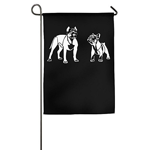 - MM-FLAG American Pit Bull Terrier French Bulldog Home Garden Flag Decorative For Indoor Outdoor Welcome Game Flag