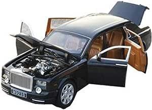 لعبة سيارة نسخة مماثلة لسيارة رولز-رويس فانتوم نموذج لعبة من قالب صب مصغر مع صوت واضاءة وتندفع للامام بقوة السحب، ابعاد النموذج المصغر بالنسبة للاصلي 1:24 علبة - m140