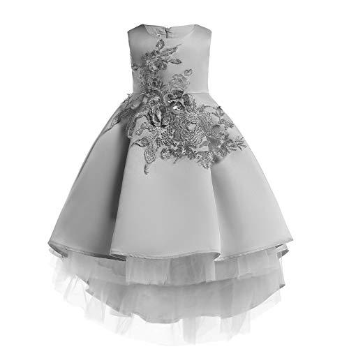 LZH Girls Wedding Party Dress Bridesmaid Pageant Princess Flower Dresses ()