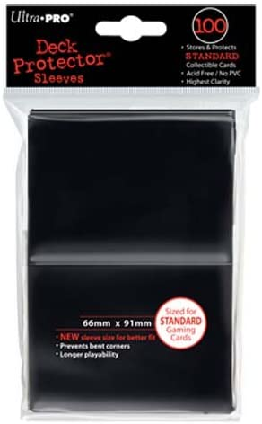 500-Count Ultra Pro Deck Protector Sleeves for Standard Size Cards Black