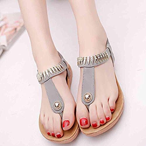61efe2fcd Hot Sandals ! AMA(TM) Women Summer Flat Bead Bohemia Sandals Lady Outdoor  Casual