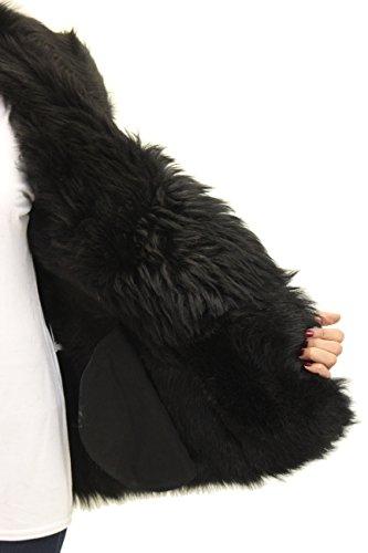 Gilet Warmer senza donna Zippž Body in maniche da nero shearling Biker fxFwSqrf7