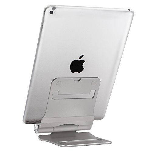 Universal Foldable Metal Stand for Tablets and Smartphones (Silver) - 9