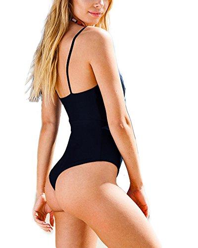 Push Intero Up Bikini Donne da Bagno del Nero Bikini Costume Costume RFxwx