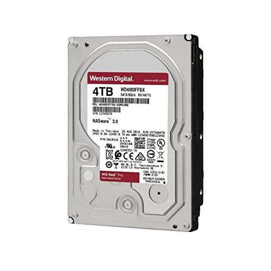 """WD Red Pro 4TB NAS Internal Hard Drive - 7200 RPM Class, SATA 6 Gb/s, CMR, 256 MB Cache, 3.5"""" - WD4003FFBX 41eM6UV4mqL. SS555"""