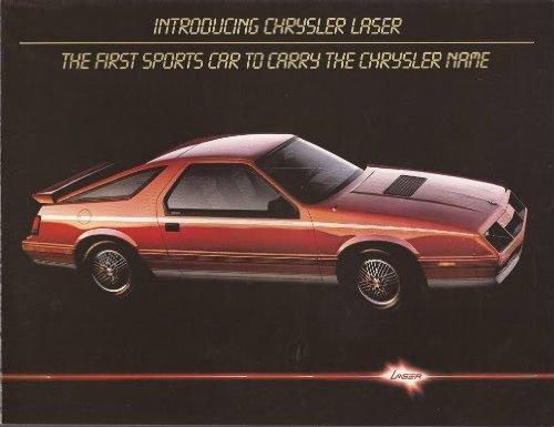 Chrysler Brochure (1984 CHRYSLER LASER & LASER XE INTRO COLOR SALES BROCHURE FOLDER - NICE ORIGINAL !!)