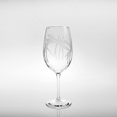 Rolf Glass Wine Glasses All Purpose Dragonfly 18 ounces Set of 4 ()