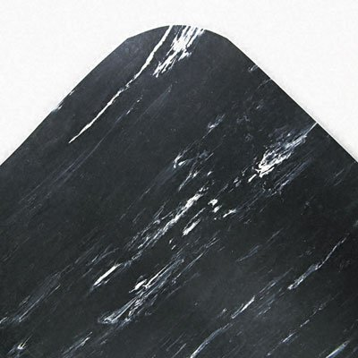 Crown Cushion-Step Mat, Rubber, 36 x 72, Marbleized Black (CU3672BK)