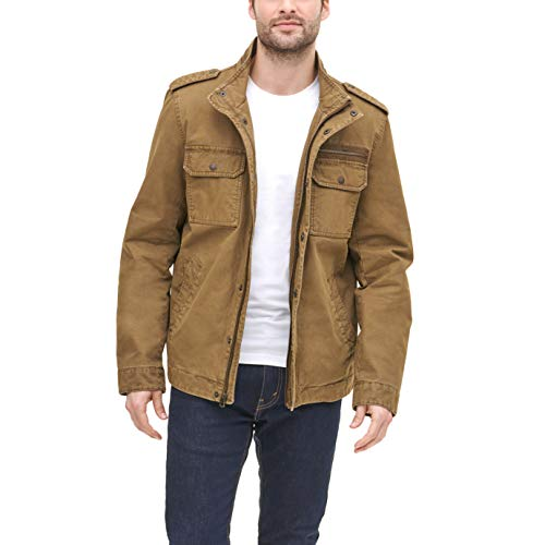 Levi's Men's Washed Cotton Two Pocket Military Jacket (Standard and Big & Tall)