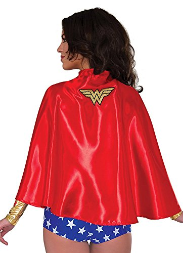 Rubie's Costume Co Women's DC Superheroes Wonder Woman Cape, Multi, One Size - Wonder Woman Mask