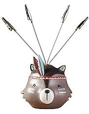 Lindou Escultura de Resina Raccoon Series Creative Cartoon Home Decoration, Small Raccoon Messages, Clips de Tarjetas de Negocios, Note Clips, Photo Clips. Adornos de Escritorio