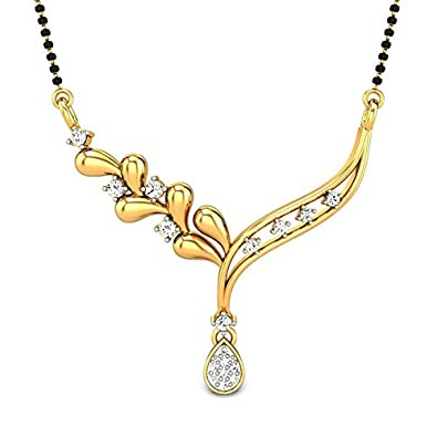 Candere By Kalyan Jewellers Mysha 14k Yellow Gold and Diamond Mangalsutra  Necklace