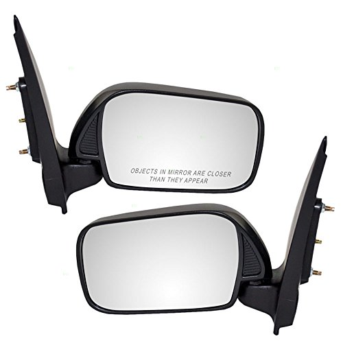 Driver and Passenger Manual Side View Mirrors Replacement for Toyota Echo 8794052560 8791052590 AutoAndArt ()