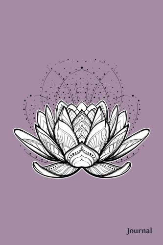 Journal: Purple Lotus Flower Quad Ruled 4 x 4 (.25'') Squares Graphing Paper Notebook for Math Science Accounting Bookkeeping for Students Teachers Women Girls Teens | Small (6 x 9)