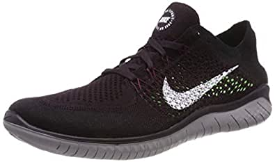 Nike Australia Men's Free RN Flyknit 2018 Running Shoes, Burgundy Ash/White-Black-Atmosphere Grey, 7 US
