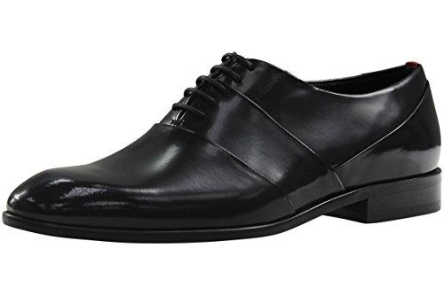 Hugo Boss Mens Dressapp Zwart Leder Oxfords Schoenen Sz: 9.5