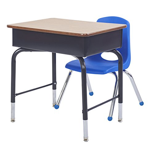 ECR4Kids 14'' School Stack Chair, Chrome Legs with Ball Glides, Blue (6-Pack) by ECR4Kids (Image #5)