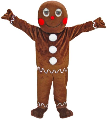 sc 1 st  Amazon.com & Amazon.com: Gingerbread Man Mascot Costume: Clothing