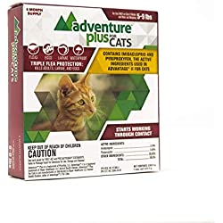 Adventure Plus Triple Flea Protection for Cats, 5-9 lbs, 8 Months, 8 Doses