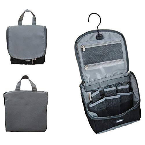 Hanging Toiletry Bag Organizer w/ Swivel Hook for Travel Camping Clearance Sales Gym,Gray