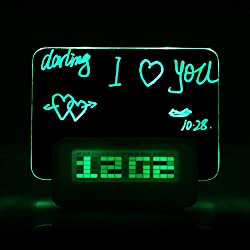 Digital Message Board Clock Alarm Temperature Calendar Timer Green Light