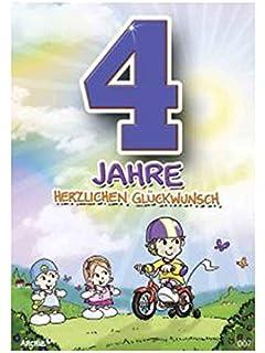 Kinder Geburtstagskarte für vier (4) Jahre alten Jungen